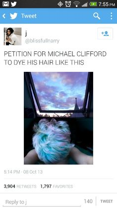 @Michael Dussert Clifford or you could go dark again - your choice, I don't get it but somehow every single frickin color of the rainbow looks good on you