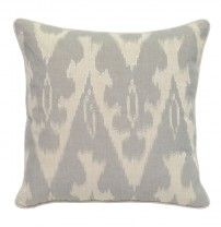 Luxury Embroidered Linen Pillow - Throw Pillows - T. Linen Pillows, Floor Pillows, Accent Pillows, Decorative Throw Pillows, Pillow Set, Pillow Covers, Ikat Pattern, Home Collections, Villa