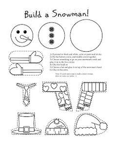 Free build a snowman printable