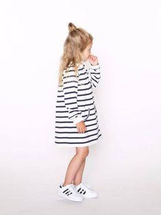 T-shirt dress, Adidas originals, top knot. Yaaaas! @littledreambird