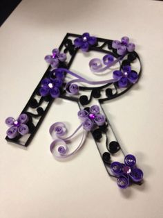 Quilled Monogramed Letters.