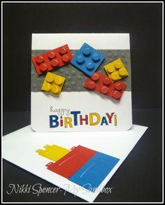 40 Super Ideas For Baby Boy Cards Lego Birthday Lego Birthday Cards, Birthday Cards For Boys, Bday Cards, Handmade Birthday Cards, Happy Birthday Cards, Birthday Kids, Scrapbooking, Scrapbook Cards, Baby Boy Cards
