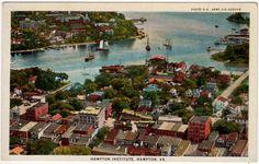 Postcard of an Overview of the Hampton Institute in Hampton, Virginia