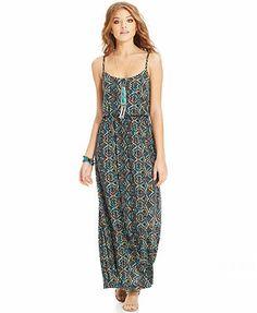 American Rag Printed Blouson Maxi Dress