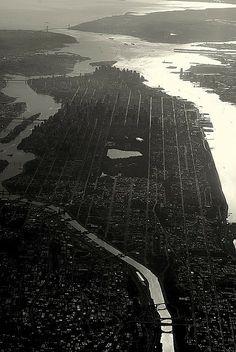 NYC. Manhattan from the air looking South by Sean Galbraith.