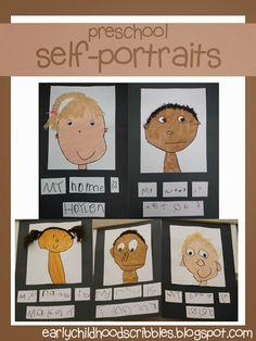 Early Childhood Scribbles: Preschool Self-Portraits