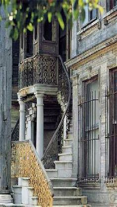 Grand old home in the Kadıköy district of Istanbul crazy beautiful city, I'd love to go back someday