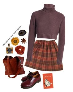 """Untitled #2835"" by momoheart ❤ liked on Polyvore featuring Dr. Martens and Mapleton Drive"