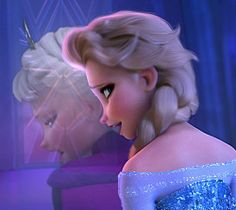 Elsa Mulan and Frozen disney crossover: when will my reflection show who I am inside.