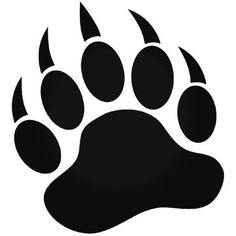 Bear Paw Print Grizzly Bear 5 inch Vinyl Decal - Perfect for Windows, cars… Brave Merida, Silhouette Ours, Bear Paw Tattoos, Bear Paw Print, Image Clipart, Image Vector, Bear Claws, Desenho Tattoo, Tatoo Art
