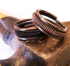 Oxidized Copper Ring/ Mr. Man /  choose one by FrecklePatchDesign, $37.00