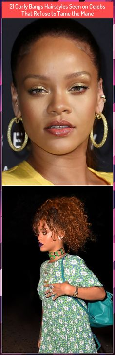 21 Curly Bangs Hairstyles Seen on Celebs That Refuse to Tame the Mane