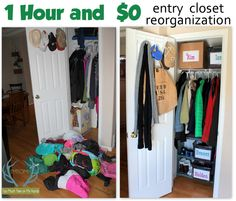 One Hour $0 Closet Reorganization