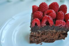 Raspberry Chocolate Truffle Brownies