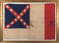 Military & Patriotic:Civil War, Confederate States 13 Star Third National Flag
