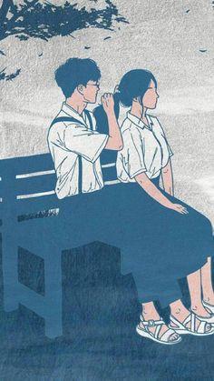 Cute Couple Drawings, Cute Couple Cartoon, Cute Couple Art, Cute Love Cartoons, Anime Love Couple, Love Drawings, Cute Anime Couples, Manga Couple, Couple Illustration