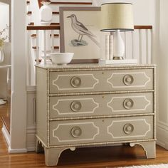 Somerset Bay Little Pine Key Chest, maybe re-create with ikea, o'verlays, appliques and corded trim or bamboo trim??