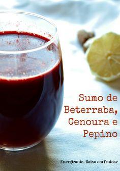 Este sumo de beterraba, cenoura e pepino é um cocktail de energia e antioxidantes. É um sumo detox ideal para hidratar e nutrir a pele.