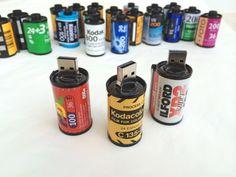 Handmade Usb, Lighting and Fine Art objects by BatLab White Camera, Art Object, Usb Flash Drive, Vintage Films, Geeks, Sticks, Handmade, Rolls, Yellow