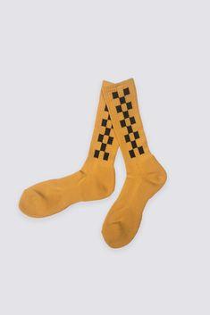 Checker Crew Sock - Yellow