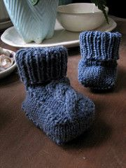Ravelry: needleanddime's Cabled Baby Booties