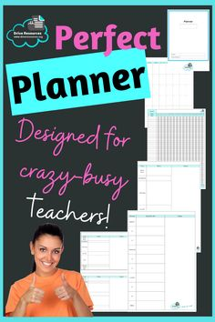 Banish brain frizz with this simple, effective planner that helps manage multiple aspects easily including: - What's on during the month - Goal-setting and time management (Gantt chart) - Your plan for the day. Day planning page comes in 3 formats: 1. One day per page. 2. Two days per page. 3. One school day per page with time slots for lessons/periods plus before and after school, and interval and lunch times. Suit teachers ... and even students and 'normal' people. LOL