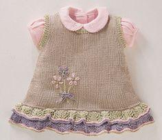 Örgü Bebek Elbiseleri Modelleri