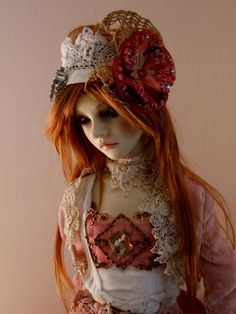 Asian Ball Jointed Dolls | Asian Ball-Jointed Doll Super Dollfie Silk Velvet & Lace Outfit