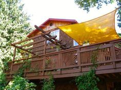 The second story deck is interesting to view from ground level and adds tremendous interest.
