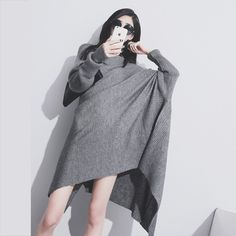 Warm and loose comfortable fit for Autumn nights and days. This can be a stand alone or for colder winters comfortable wear over a pair of leggings and over the knee boots.   #shopping #charities #littleblackdress #womensfashion #holidayfashion #sexygirls