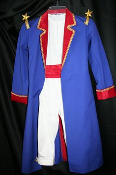 Le Petit Prince Costume - The Little Prince Costume -  Full length jacket, Cummerbund, Knickers and shirt.   Complete with stars on the shoulders.