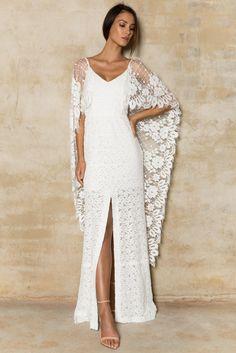Vestido de noiva boho com renda