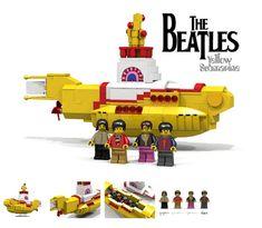 Yellow Submarine, Lego Worlds, Lego News, Lego Models, Lego House, Lego Projects, Lego Building, Legoland, Lego Friends