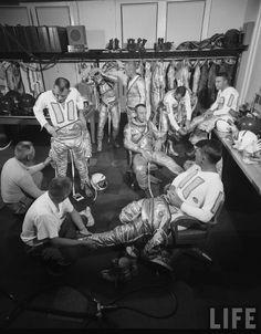 Mercury 7 suit up Photographer: Ralph Morse
