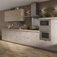 Kitchen Bar Design, Kitchen Styling, Interior Design Kitchen, Green Kitchen Cabinets, Kitchen Tops, Kitchen Modular, Open Plan Kitchen Living Room, Cuisines Design, Leroy Merlin