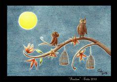 """""""Freedom"""" pastelli su carta di Evita Cantoni"""