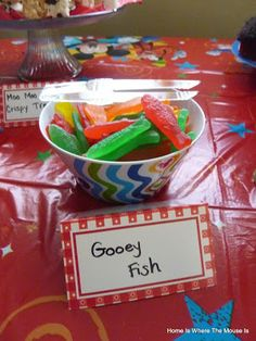 Home is Where the Mouse is: Mickeys Farm Birthday Party- Gooey Fish