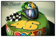 Motorcycling #cake for a Valentino #Rossi fan