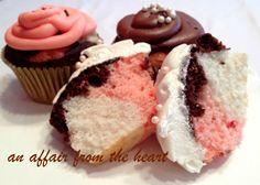 Neapolitan Cupcakes   An Affair from the Heart