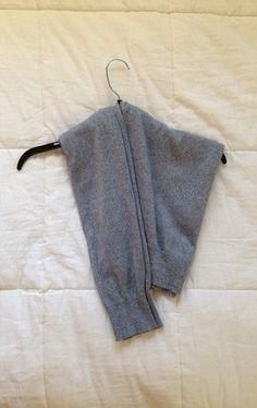 型崩れなしでセーターをハンガーに掛ける裏技 – プレゼント小ネタ帳