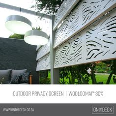 We supply the OUTDECO range of outdoor privacy screens. OUTDECO screens allow you to create beautiful, private spaces in your outside living area. Privacy Screen Outdoor, Garden Screening, Outside Living, Yard Landscaping, Cladding, Your Style, Range, House Design, Landscape