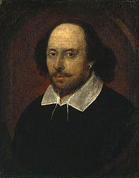 Mahdollisesti John Taylorin maalama ns. Chandos-muotokuva, jonka arvellaan esittävän William Shakespearea.[1]