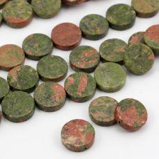 Gładkie krążki / monetki naturalnego unakitu w kolorze oliwkowo-rdzawym. Mineral Stone, Minerals, Jewlery, Stones, Jewels, Rocks, Jewerly, Stone, Jewelry