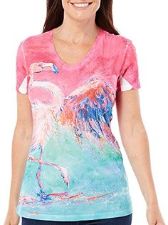 Leoma Lovegrove Womens Rain Dance Rib T-Shirt X-Large Pink/blue Leoma Lovegrove http://www.amazon.com/dp/B00YPDHTFC/ref=cm_sw_r_pi_dp_GeF6vb036533N