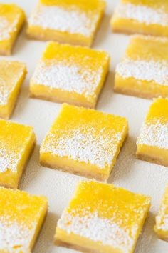 Lemon Bars - These just melt away in your mouth and are bursting with fresh lemon flavor.