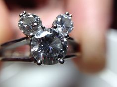 OMG Mickey engagement ring! I want! I want! I wantttt!!!! http://www.foreverexuberantly.com/project/our-engagement-pictures/