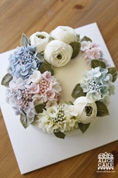 앨리스의 아름다운 수국 케이크 이야기 : 네이버 블로그
