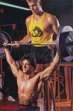 Lundgren & Stallone at their Training Moments for Rocky IV - http://www.dravenstales.ch/lundgren-stallone-at-their-training-moments-for-rocky-iv/