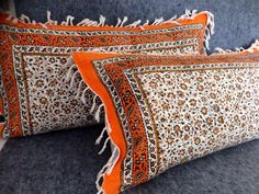 mixing and matching high quality natural cotton ( calico) and Irish linen. Pillow cover made with middle eastern calico printing tapestry %100 natural materials & dyes. Traditional floral print with bright orange colour used for the front of pillows. For the backside quality IRISH LINEN woven fabri