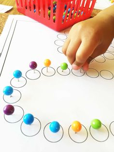 Ball top colored pushpins for fine motor activities preschool only at AlenaSani.com